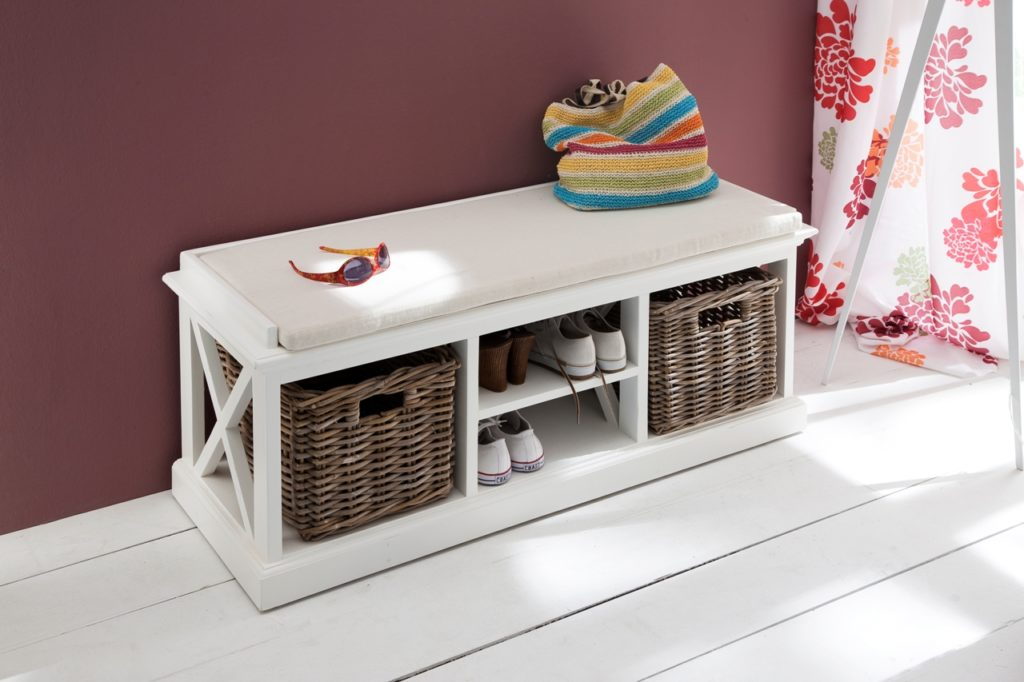 NovaSolo Bench & Basket Set with Seat Cushion-1