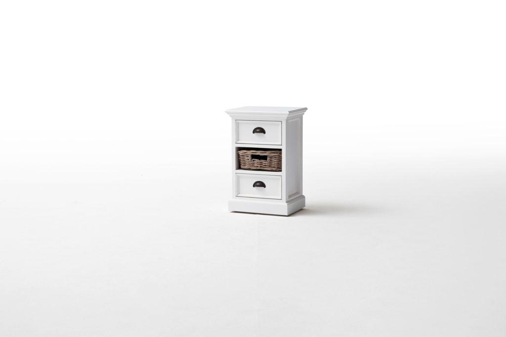 NovaSolo Bedside Storage Unit with Basket-4
