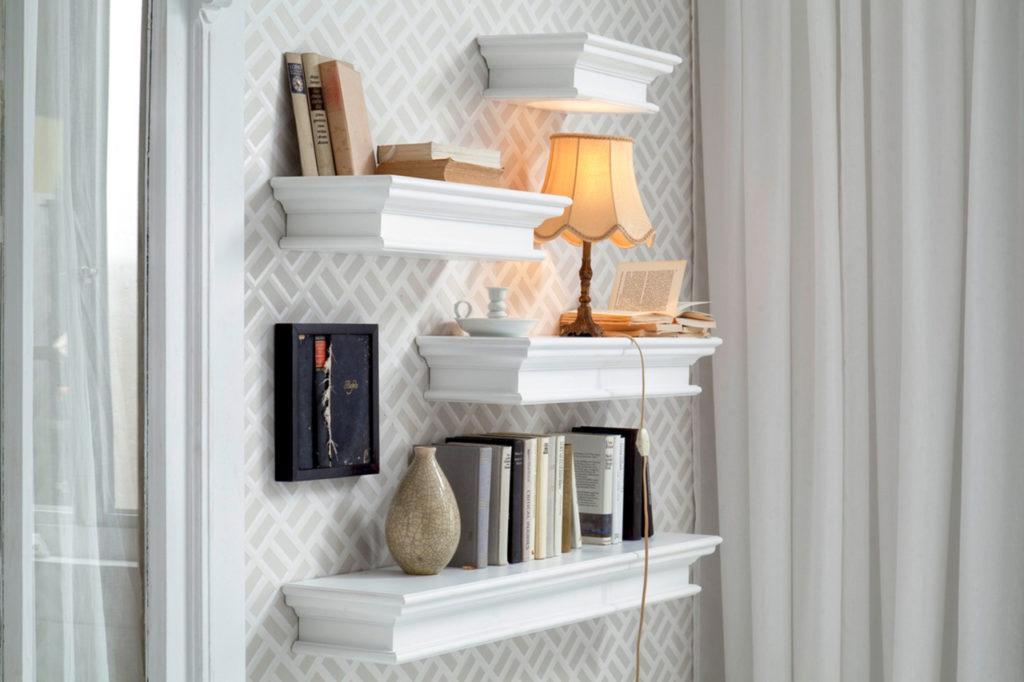 NovaSolo Floating Wall Shelf, Long-1