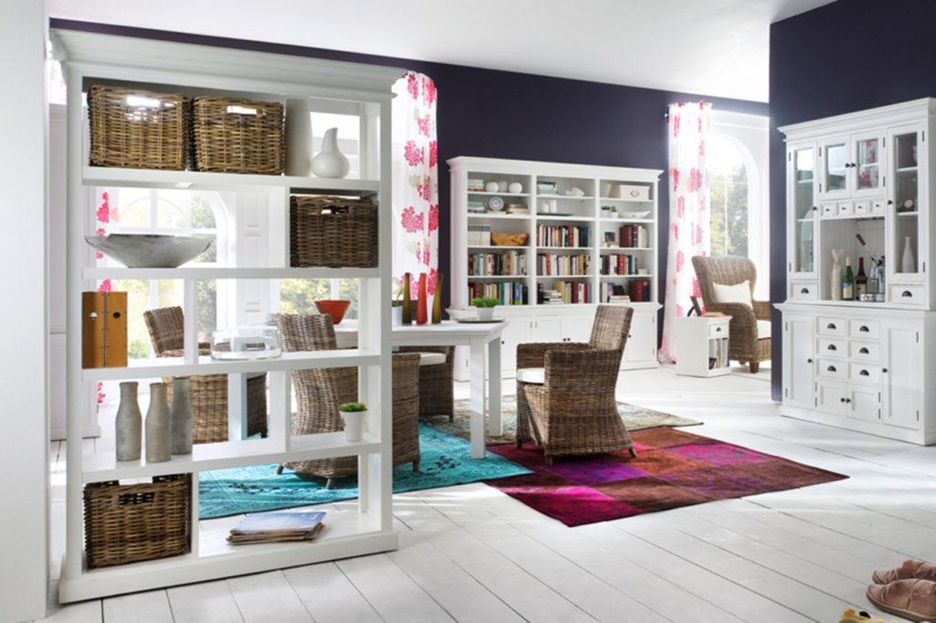 NovaSolo Room Divider with Basket Set-1