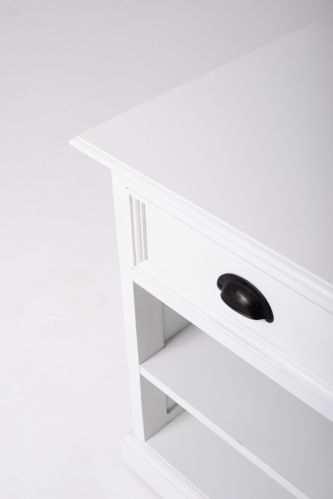Halifax Bedside Table with Shelves_12
