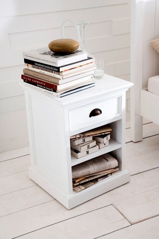 Halifax Bedside Table with Shelves_3