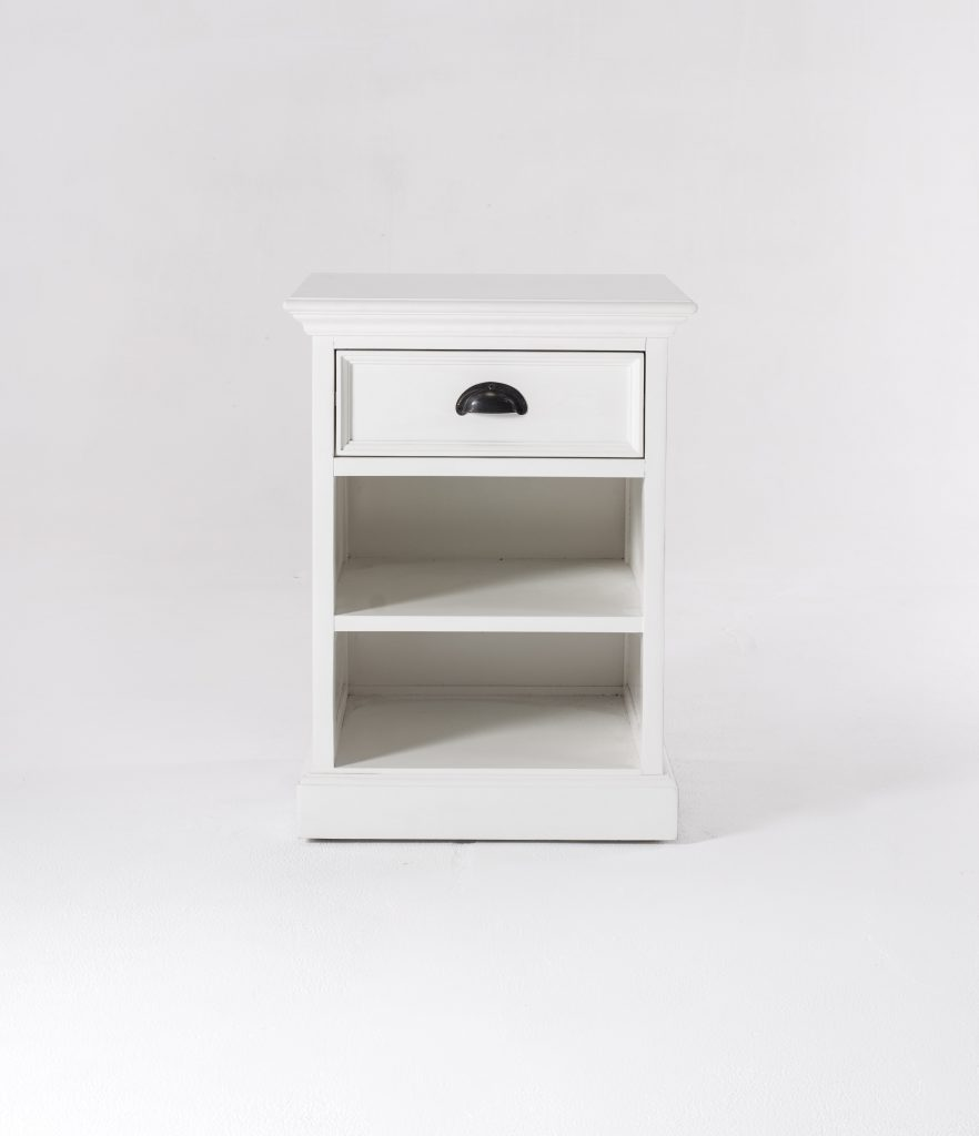 Halifax Bedside Table with Shelves_4