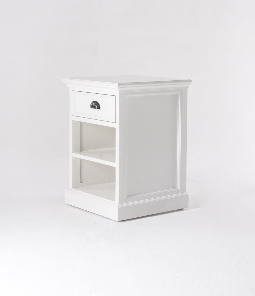 Halifax Bedside Table with Shelves_5