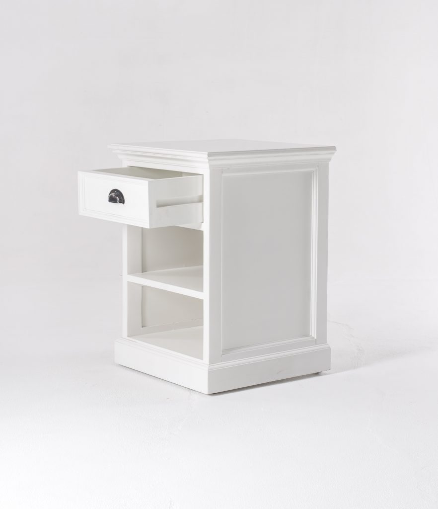 Halifax Bedside Table with Shelves_6