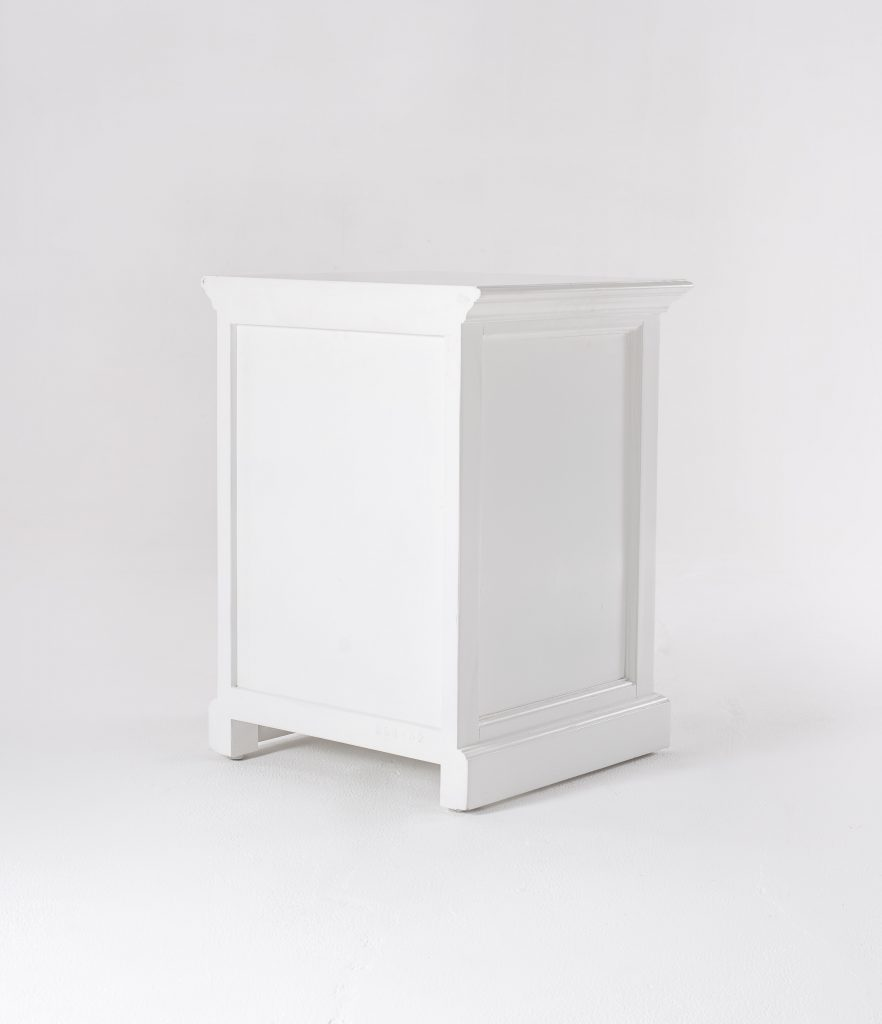 Halifax Bedside Table with Shelves_8