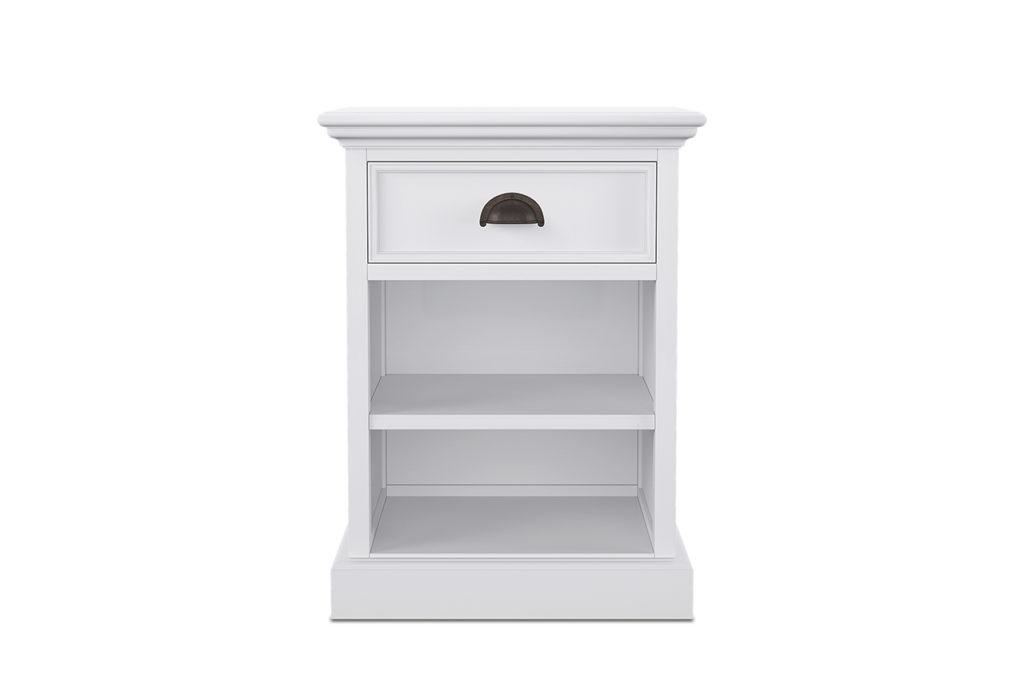 NovaSolo Bedside Table with Shelves-2