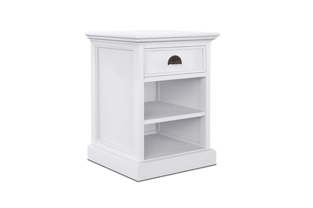 NovaSolo Bedside Table with Shelves-3