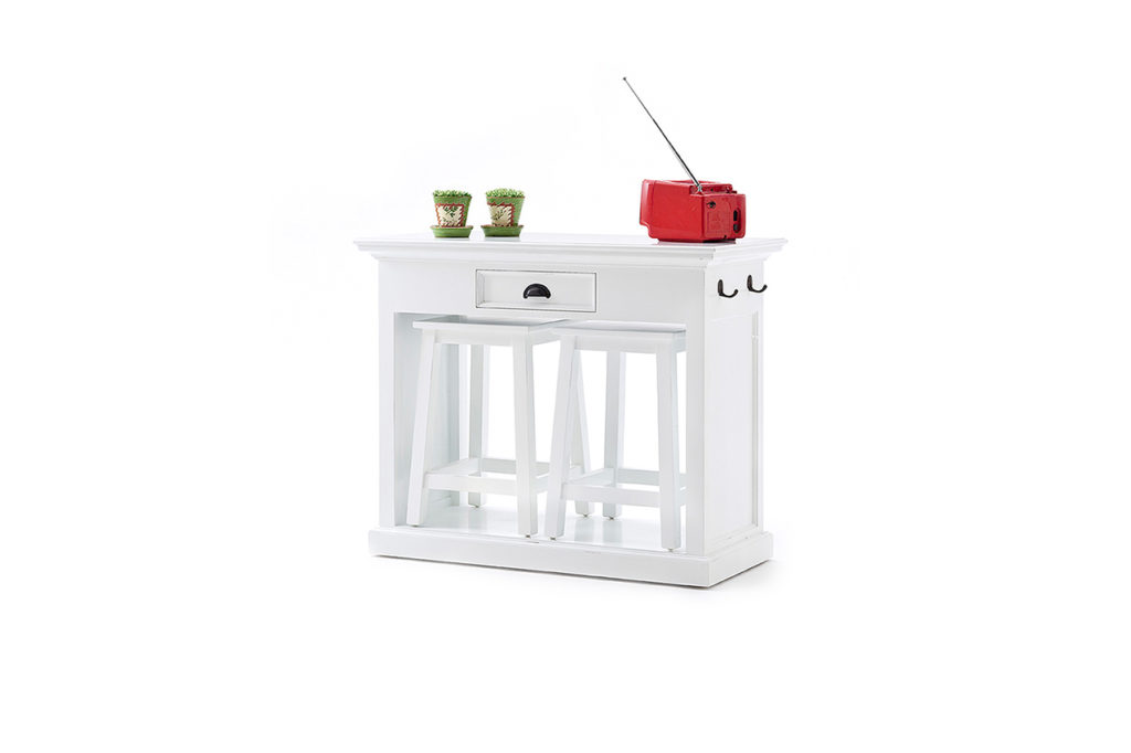 NovaSolo Kitchen Table Set with Stools & Cushions-6