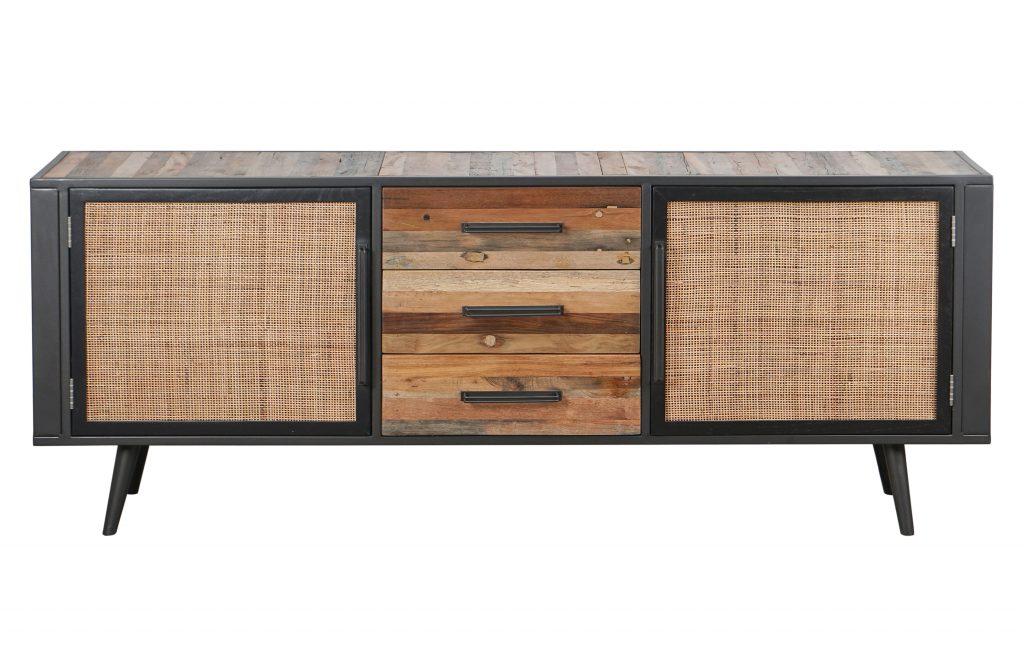 Nordic Rattan Buffet 2 Doors 3 Drawers_1