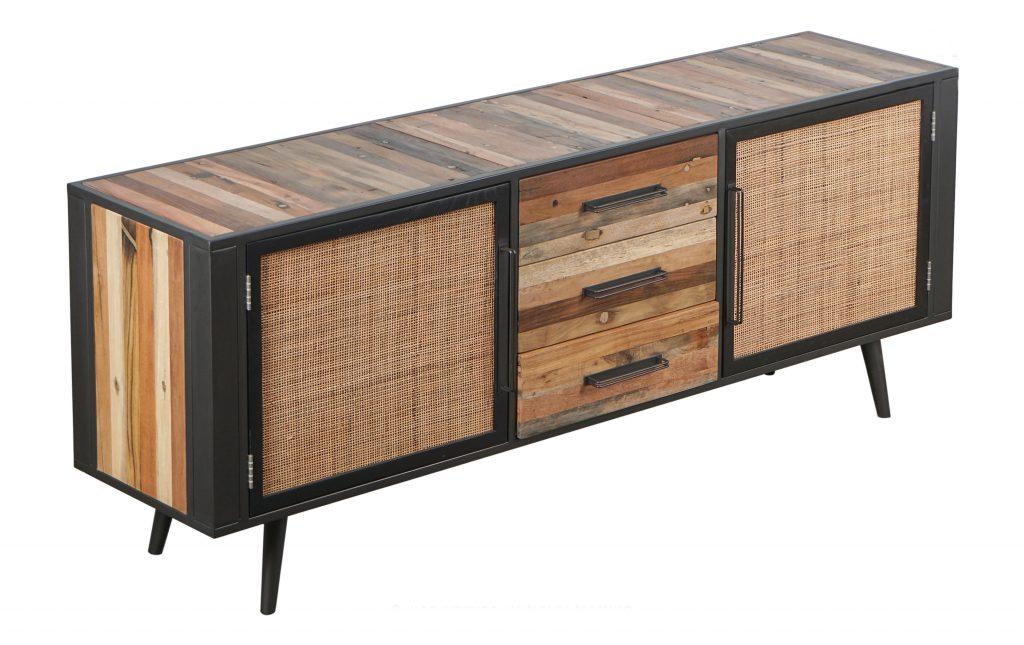 Nordic Rattan Buffet 2 Doors 3 Drawers_2