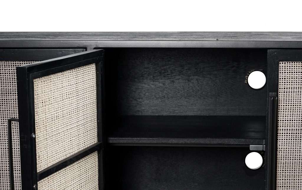 Nordic Mindi Rattan TV Dresser 4 Doors_6