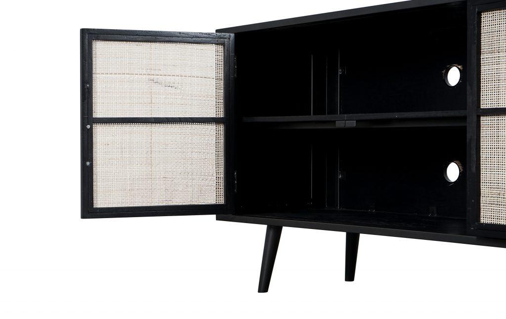 Nordic Mindi Rattan TV Dresser 4 Doors_7