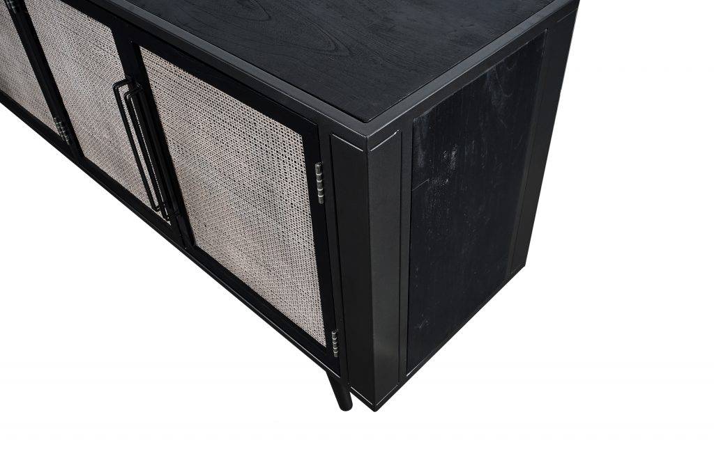 Nordic Mindi Rattan TV Dresser 4 Doors_8