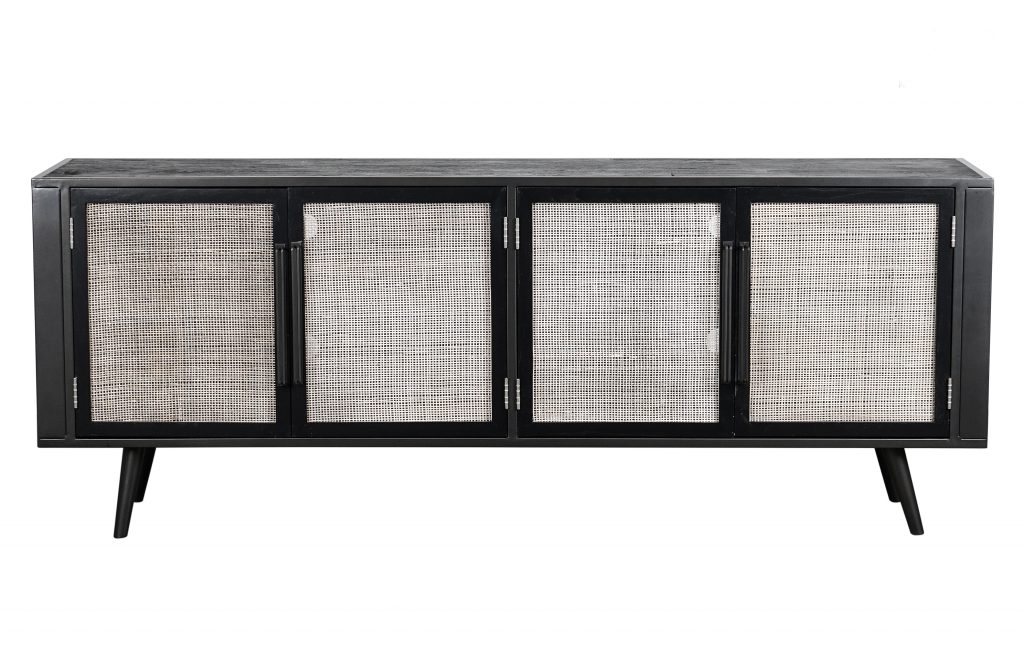 Nordic Mindi Rattan TV Dresser 4 Doors_1