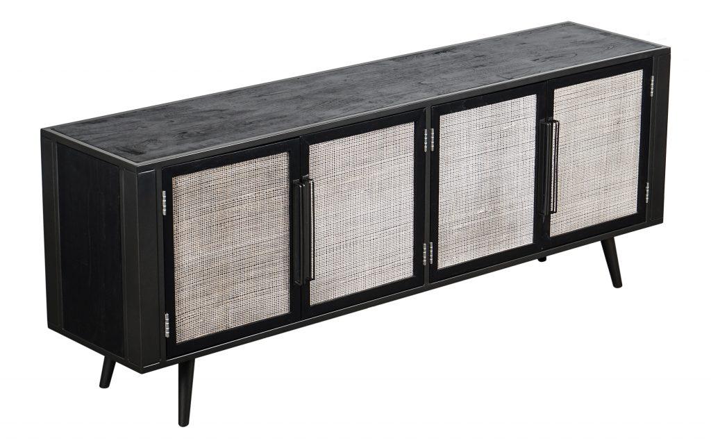 Nordic Mindi Rattan TV Dresser 4 Doors_2