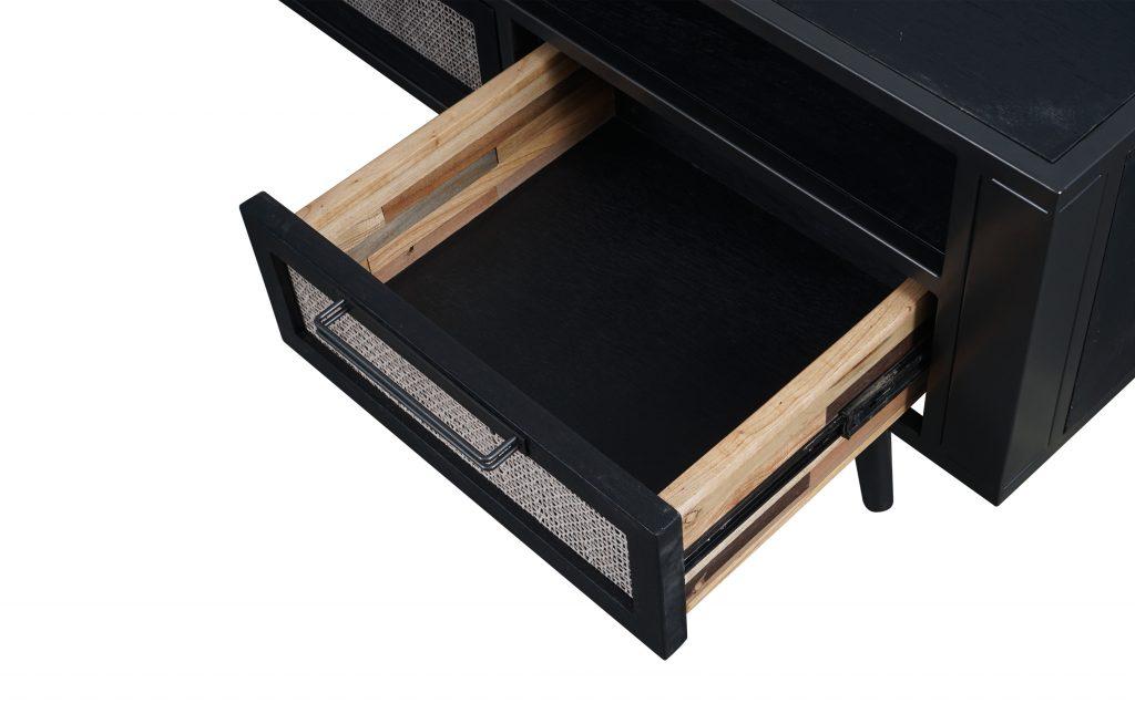 Nordic Mindi Rattan TV Dresser 3 Drawers_6