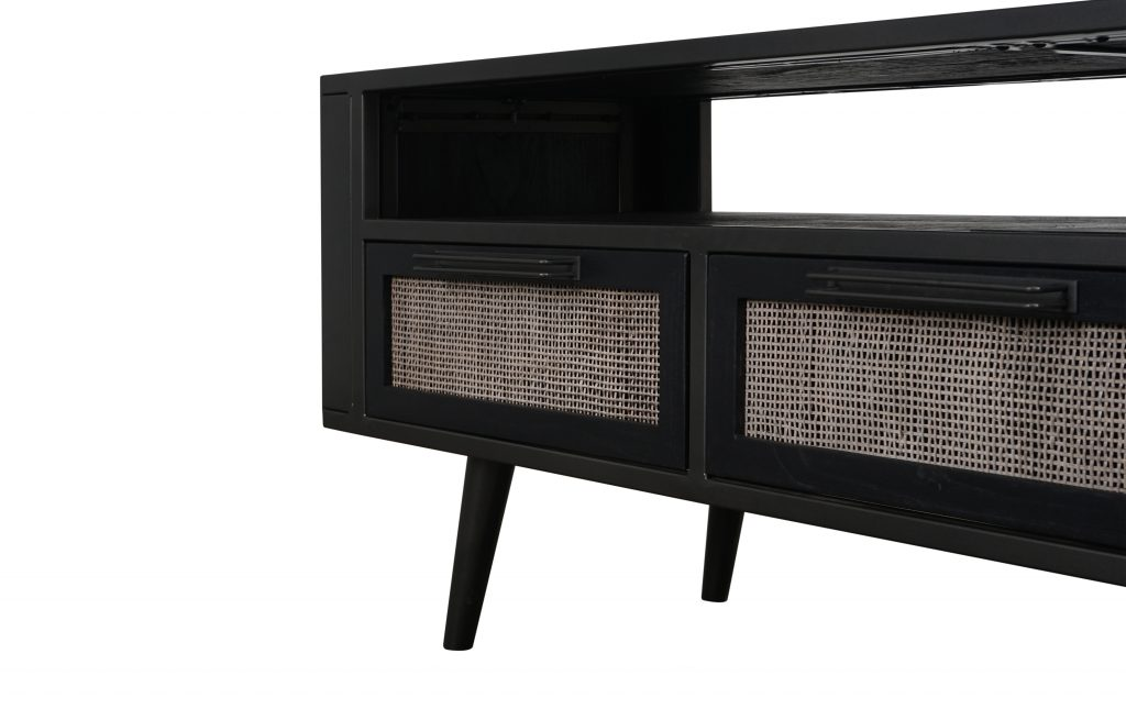 Nordic Mindi Rattan TV Dresser 3 Drawers_7