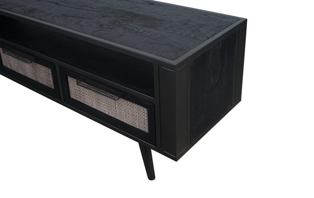 Nordic Mindi Rattan TV Dresser 3 Drawers_8