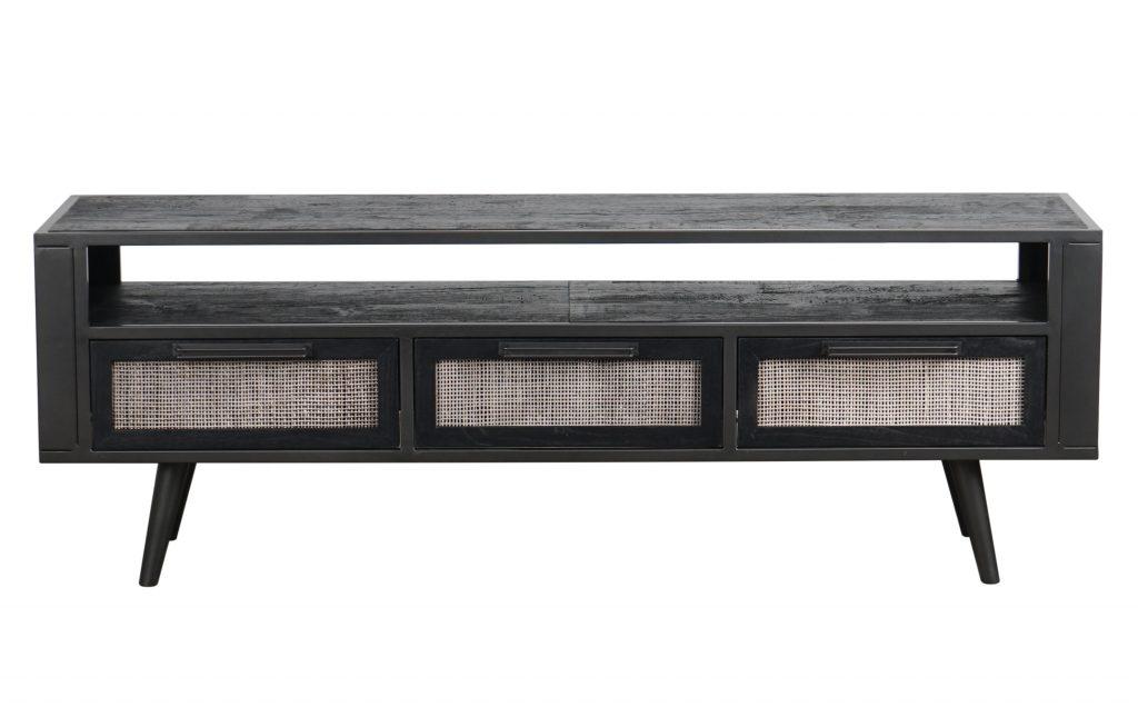 Nordic Mindi Rattan TV Dresser 3 Drawers_1
