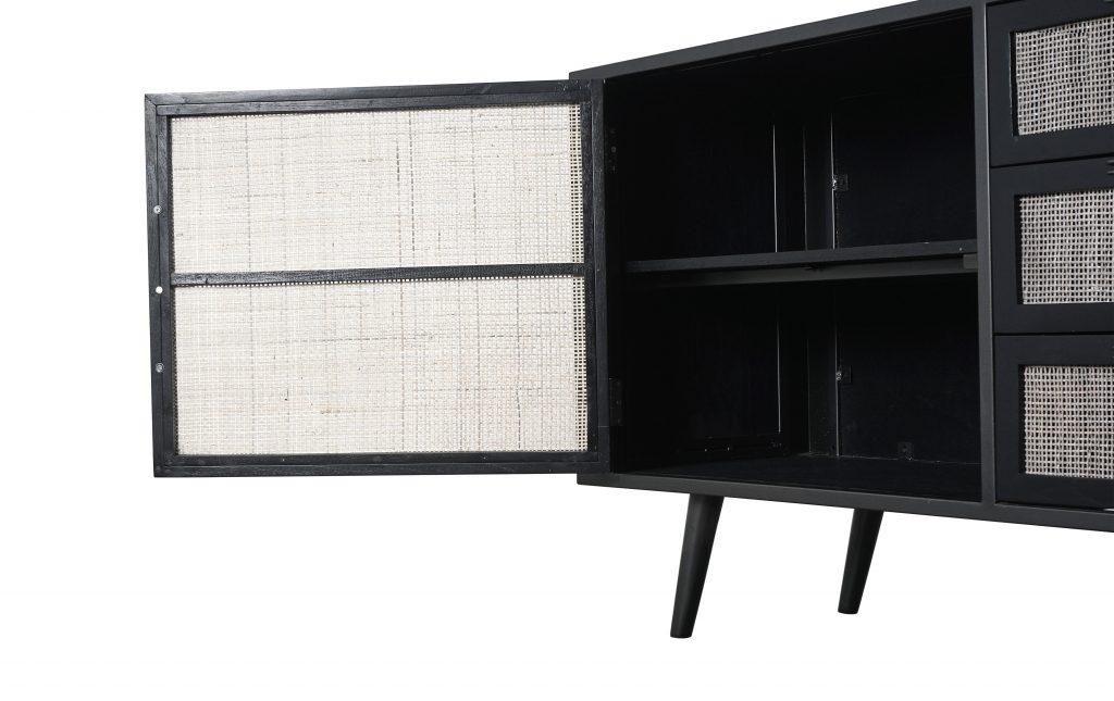 Nordic Mindi Rattan Buffet 2 Doors 3 Drawers_7
