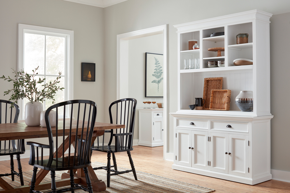 Halifax Buffet Hutch Unit with 2 Adjustable Shelves_19