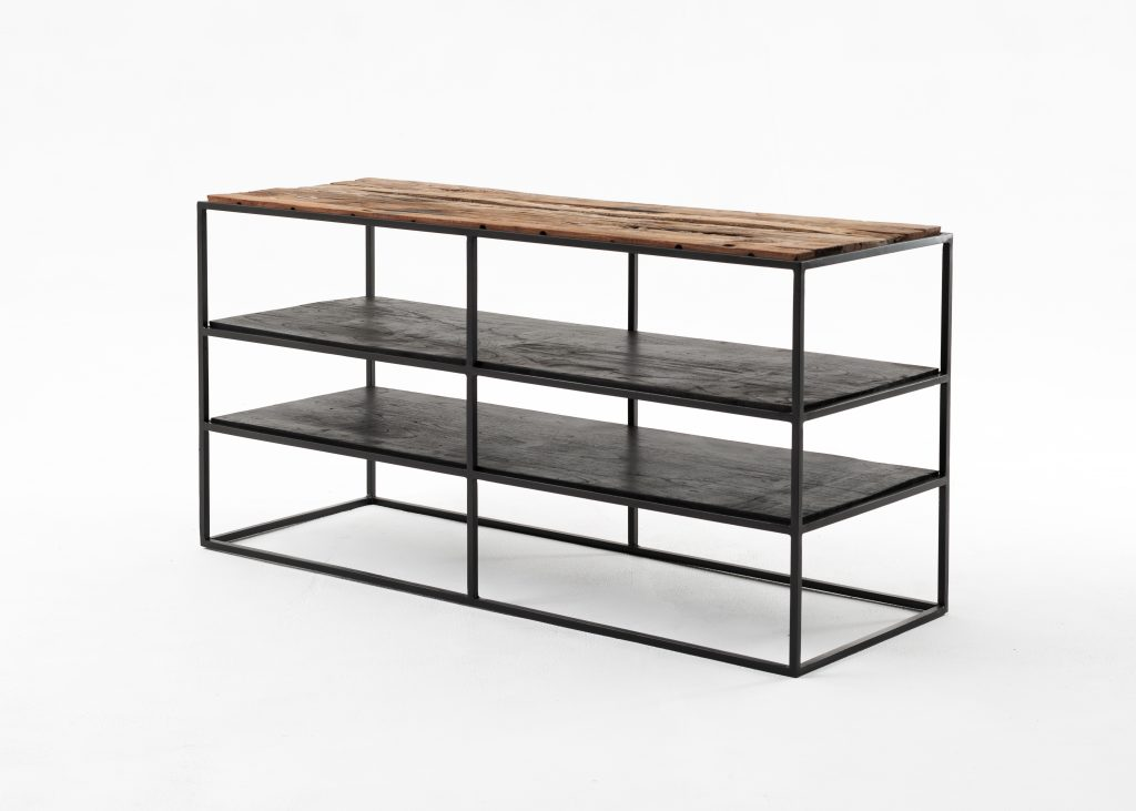 Rustika TV Stand Open Shelving 112cm_2