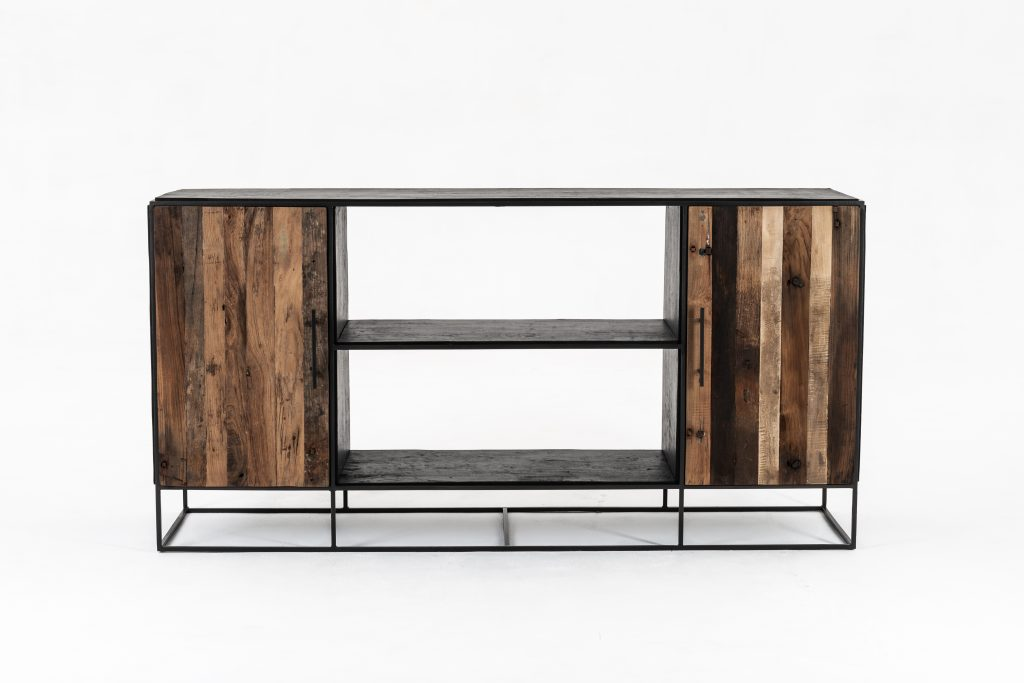 Rustika Sideboard 2 Doors Open Shelving_1