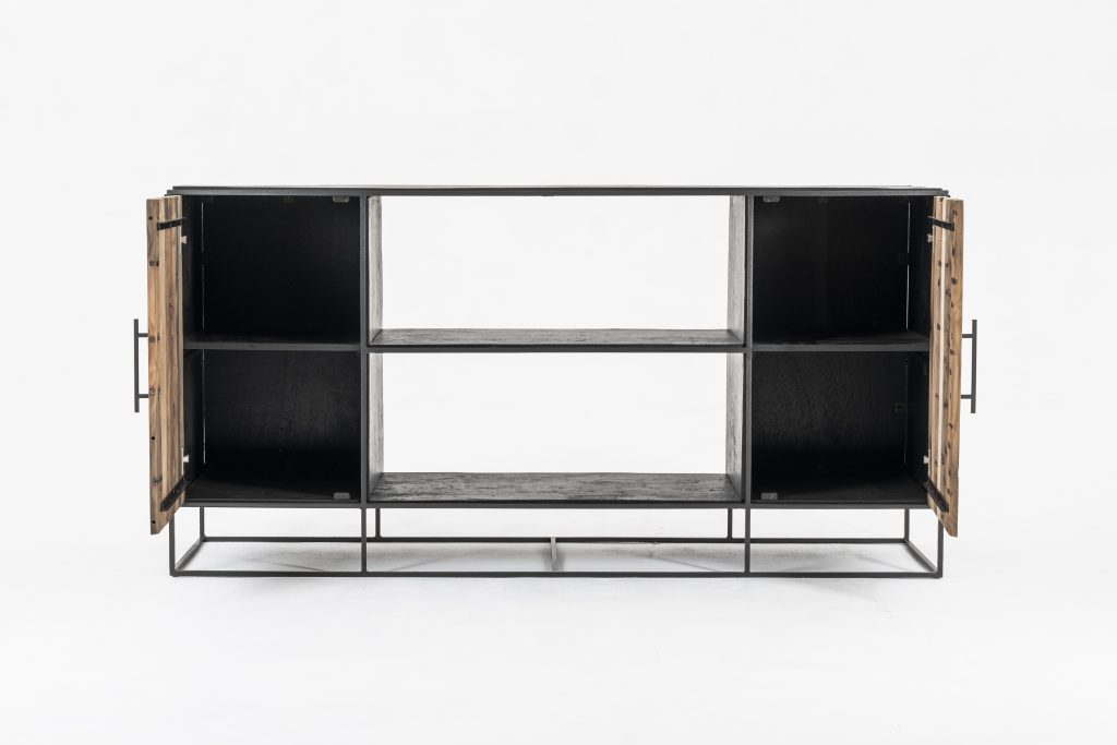 Rustika Sideboard 2 Doors Open Shelving_2