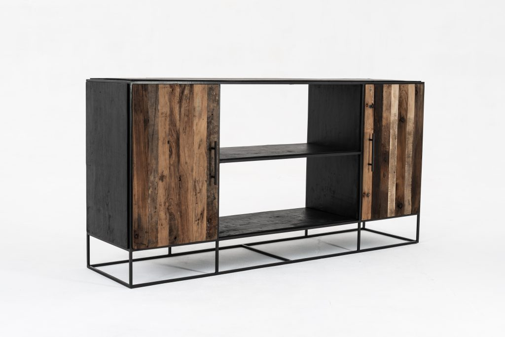 Rustika Sideboard 2 Doors Open Shelving_3