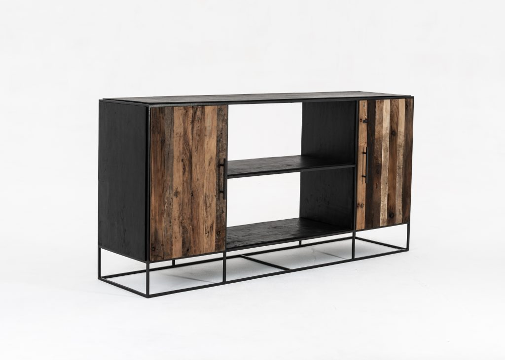 Rustika Sideboard 2 Doors Open Shelving_4