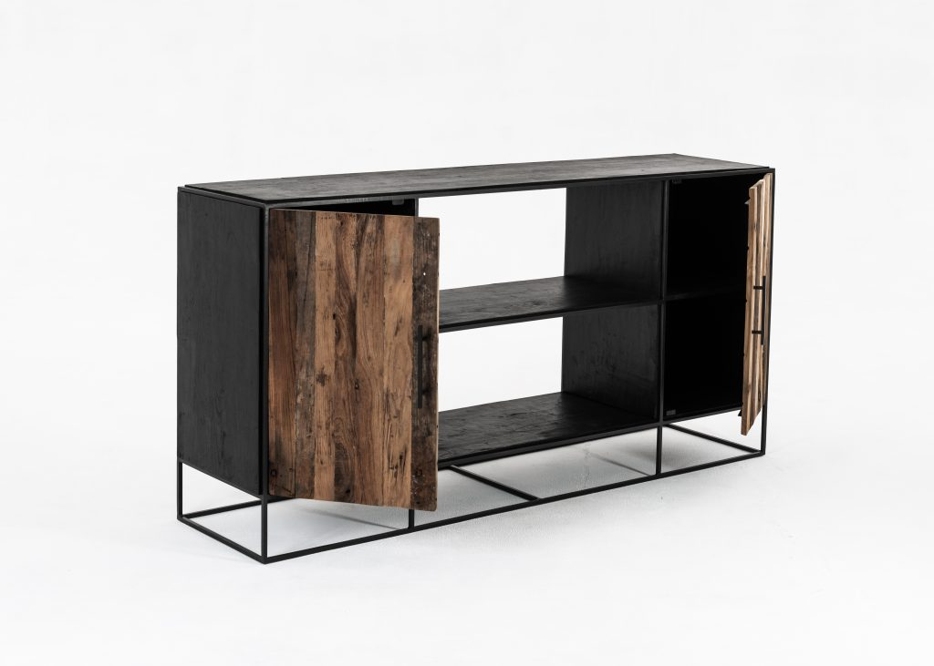 Rustika Sideboard 2 Doors Open Shelving_5