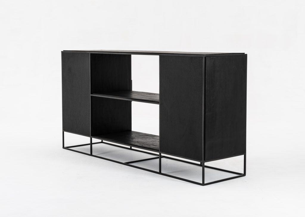 Rustika Sideboard 2 Doors Open Shelving_8