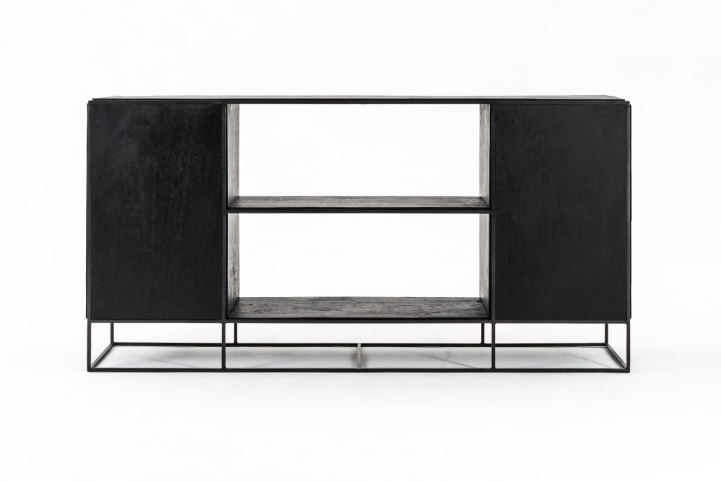 Rustika Sideboard 2 Doors Open Shelving_9