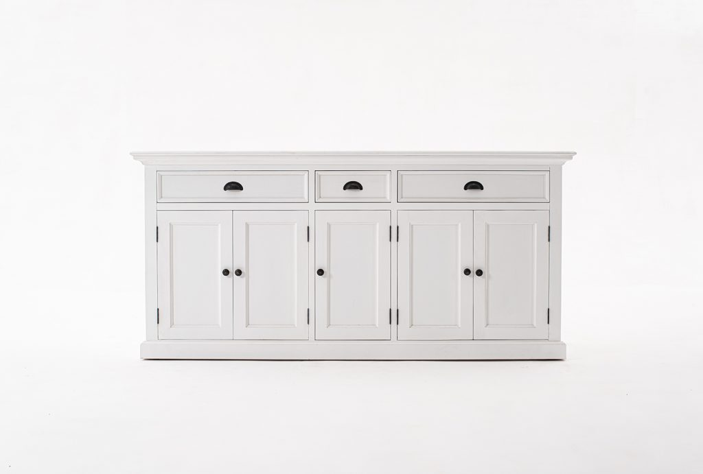 Halifax Kitchen Hutch Cabinet with 5 Doors 3 Drawers_11