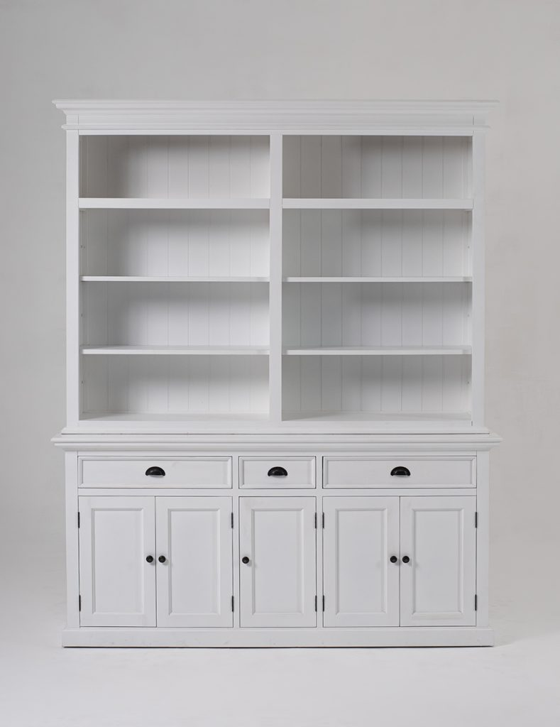 Halifax Hutch Bookcase 5 Doors 3 Drawers_1