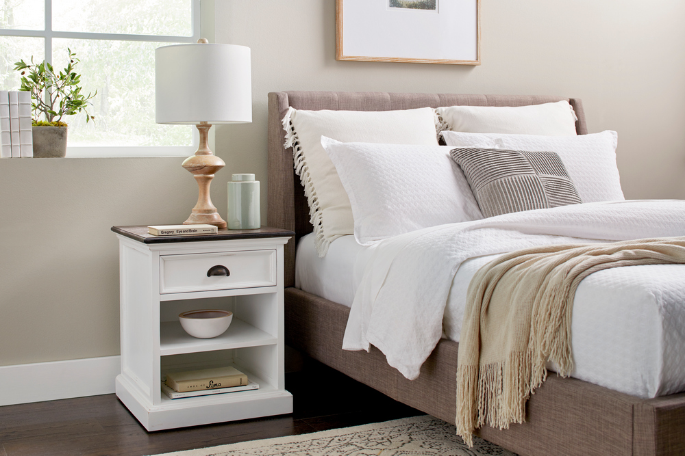 Halifax Accent Bedside Table with Shelves_9