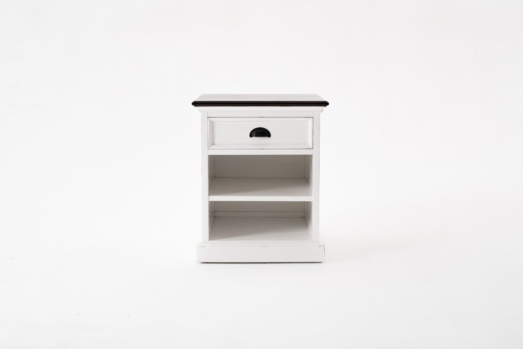 Halifax Accent Bedside Table with Shelves_1