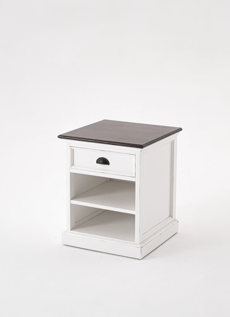 Halifax Accent Bedside Table with Shelves_2