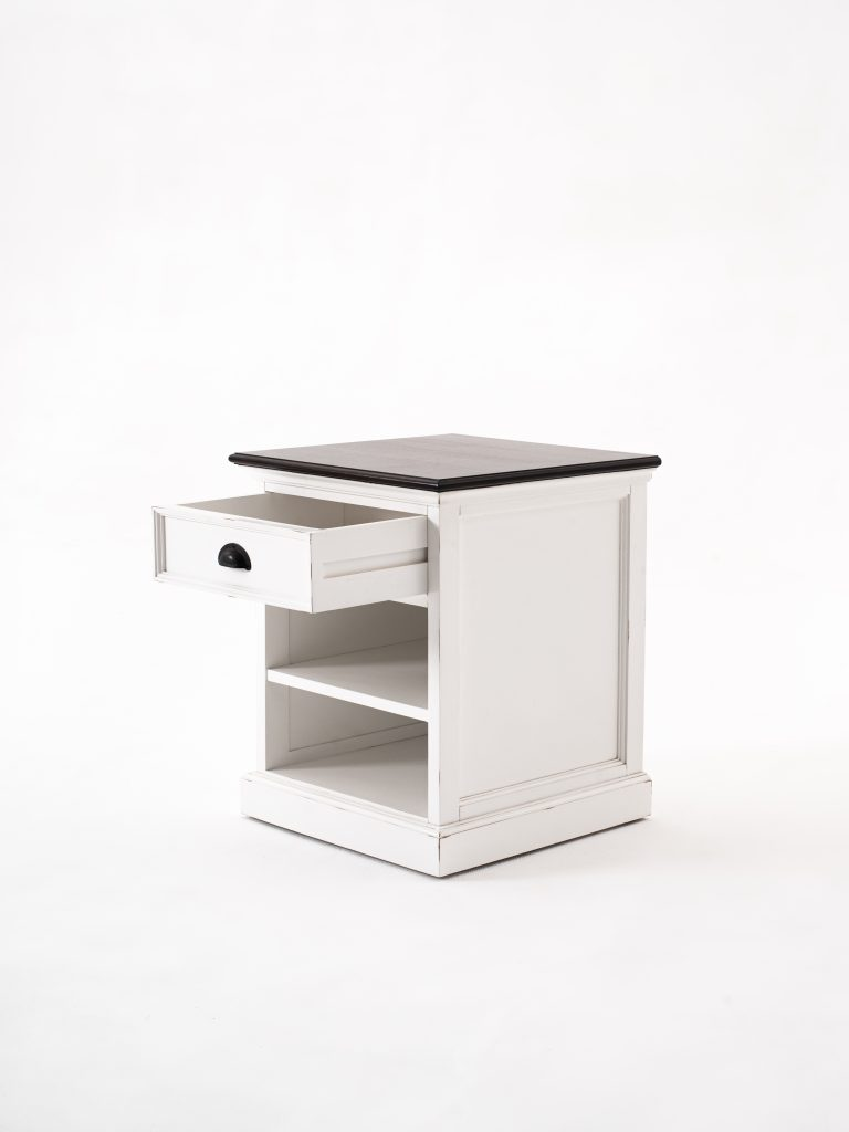 Halifax Accent Bedside Table with Shelves_3