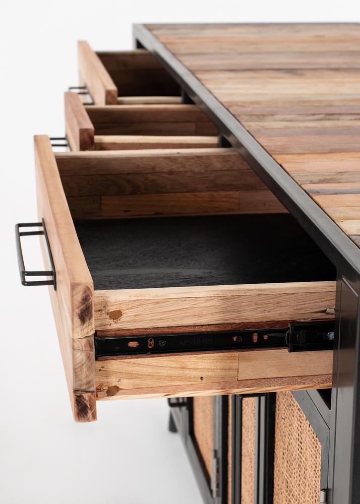 Nordic Rattan Buffet 5 Doors 3 Drawers_9