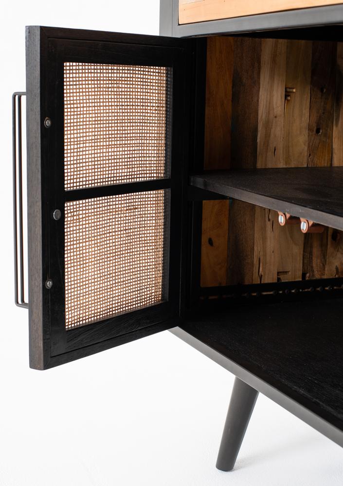 Nordic Rattan Buffet 5 Doors 3 Drawers_12