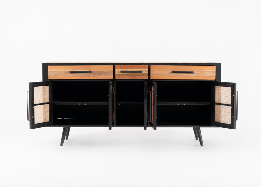 Nordic Rattan Buffet 5 Doors 3 Drawers_3