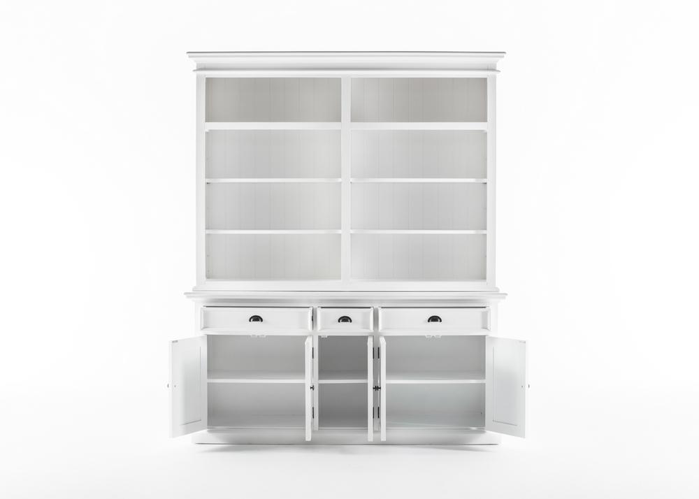 Halifax Hutch Bookcase 5 Doors 3 Drawers_2