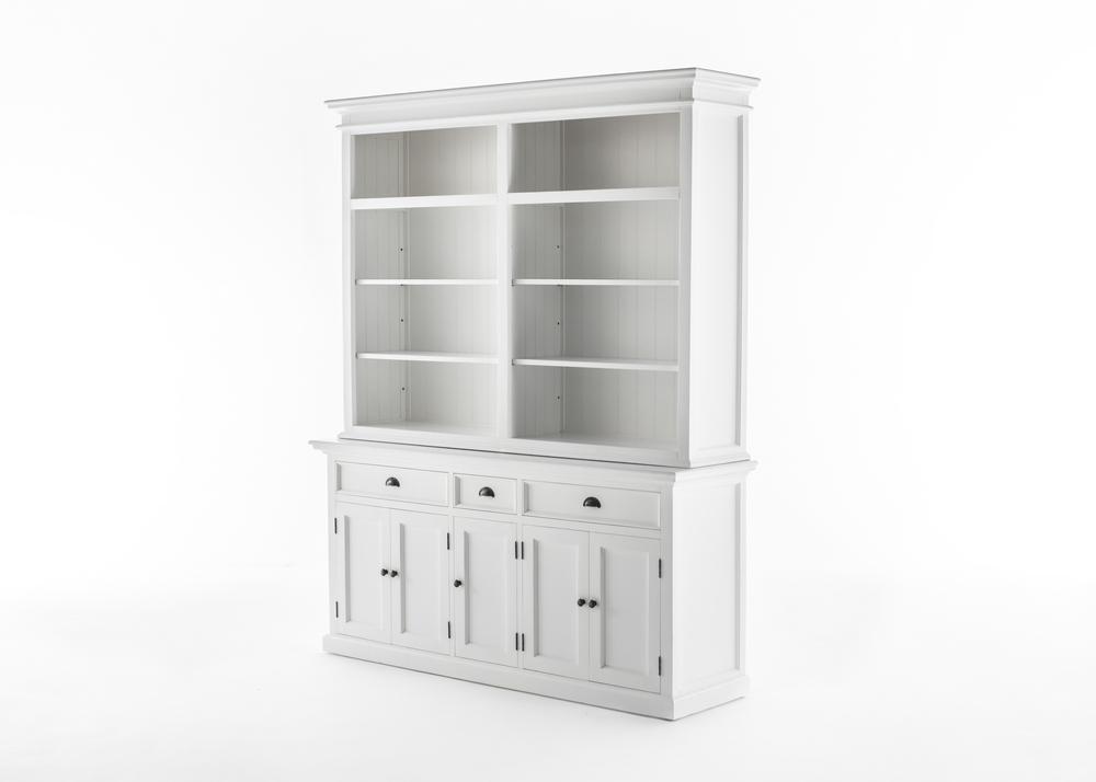 Halifax Hutch Bookcase 5 Doors 3 Drawers_3