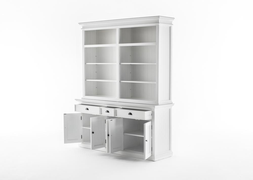 Halifax Hutch Bookcase 5 Doors 3 Drawers_4